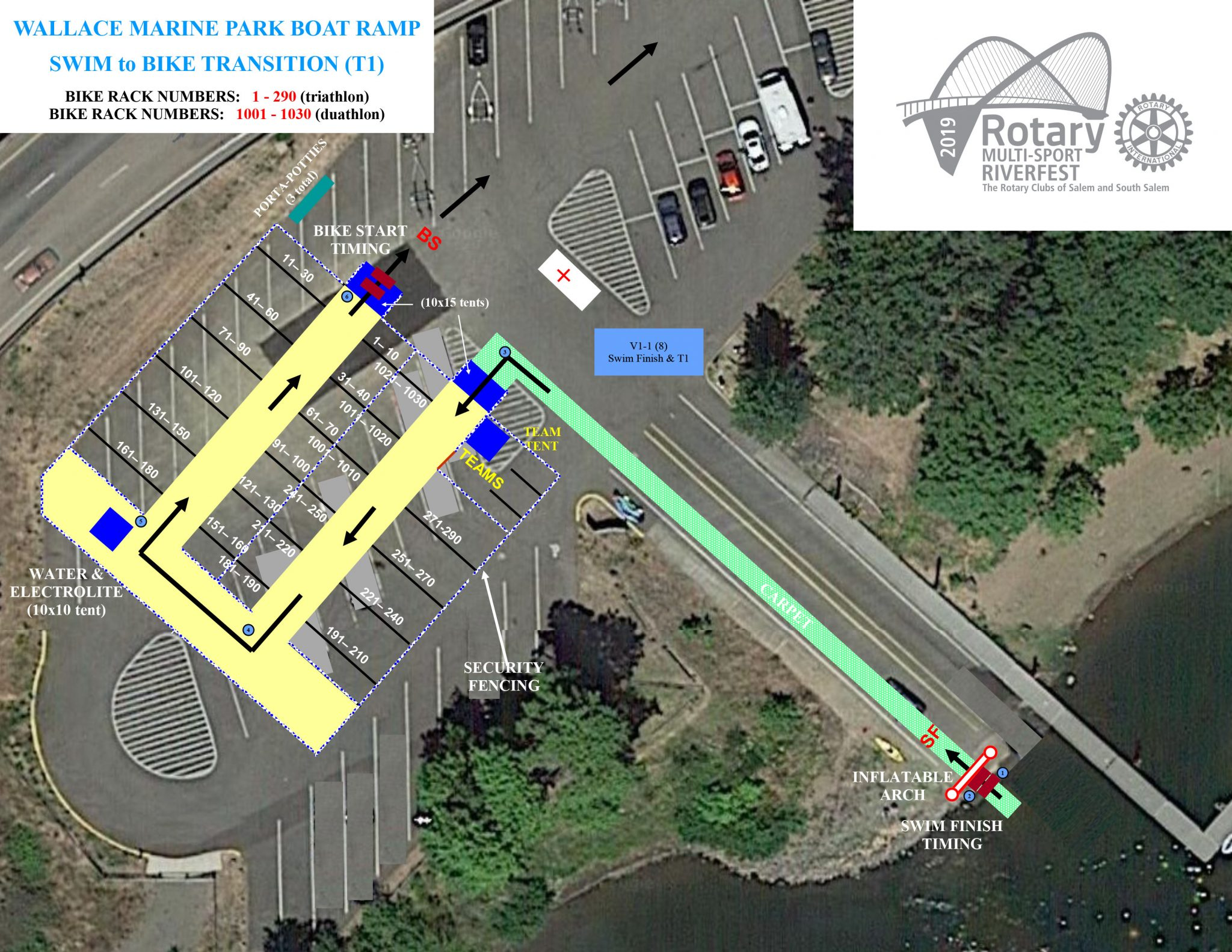 T1 - Wallace Marine Park - Swim to Bike Transition (T1)